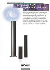 Studer ReVox Prospekt Katalog Lautsprechersystem A1 Column Center Shelf Heimkino