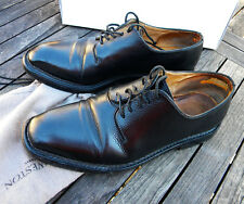 CHAUSSURES HOMME BOWEN DERBY MODEL WARREN 7.5UK 41,5 CUIR NOIR GRAINE MOUSTACHE