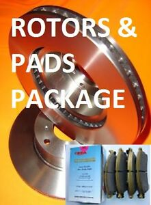 Jeep WG WJ 2000 onwards FRONT Disc brake Rotors & RDA EXTREME HD PADS PACKAGE