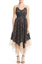 $274 TRACY REESE LACE OVERLAY HANDKERCHIEF ILLUSION DRESS SIZE 8