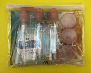 Reiseflaschen-SET inkl. ZIP-Beutel Flüssigkeitsbehälter Flug Handgepäck Kosmetik