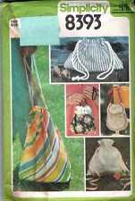 HANDBAG Beach TOTE STYLE Pouch HIPPIE RETRO Pattern to MAKE Gift