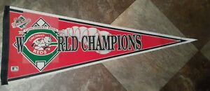 """Cincinnati Reds 1990 World Series Champions Licensed Official 30"""" Pennant"""