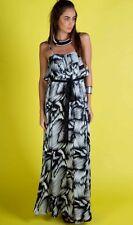Honey And Beau Black & White Maxi Dress,Womens Long Summer Dress Size 8