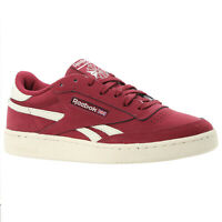 REEBOK MEN'S CLASSICS REVENGE PLUS TRAINERS SUEDE BURGUNDY SHOES SNEAKERS RED