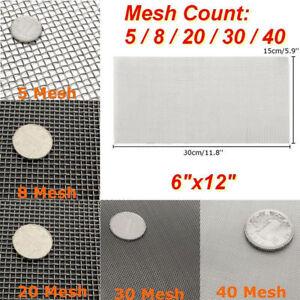 Edelstahl Filtergewebe Filter Feinfilter Gaze 5/8/20/30/40 Mesh Drahtgewebe