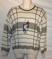 MEN'S GANT SWEATER SZ M MEDIUM GOLFING GOLF GOLFER 100% COTTON EUC
