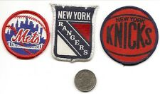 "2"" New York Rangers- 2"" New York Mets- 3"" New York Knicks Patch (1 of each)"