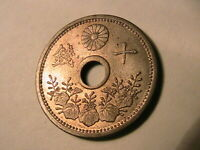1922 Japan 10 Sen Choice Lustrous BU Japanese Empire Nippon Ten Sen Minor Coin