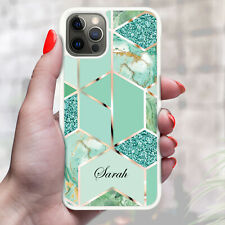 Personalised Marble Phone Case Cover For Apple Samsung Initial Name - Ref Z07