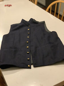 Civil War Reproduction Dark Blue Enlisted Man's Vest