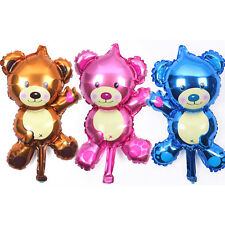 "Set of 3 mini teddy bear foil balloons 40cm 16"" baby choose your own colours"