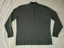 Smartwool Mens MERINO WOOL BLEND Mock Neck 1/4 Zip Pullover Gray Sweater Sz XL