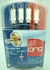 QED One Series RCA cables 3 meter Phono cable pair