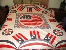 Flag Quilt Limited Edition 82 x 82 923 of 7500 Stars REd White Blue