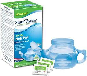 Sinucleanse Soft Tip Neti Pot 30 Saline Pack Included - Box Slight Damaged