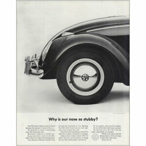1963 Volkswagen: Why Is Nose So Stubby Vintage Print Ad