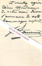 Lettre autographe signée de Jean-Paul LAURENS Peintre et sculpteur français 1882