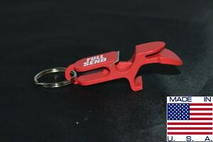 FULL SEND SHOTGUN KEY CHAIN | Beer Bong for Cans | MADE IN USA (RED)