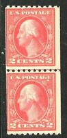 [GF]   Fresh 1914 US #442 Mint-NH ~ Vertical Coil Line Pair [Perf. 10]