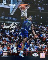 Isaiah Rider Autographed 1994 NBA Slam Dunk Champion 8x10 Photo PSA DNA COA