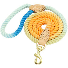 5ft Fashion Soft Cotton Rope Braided Dog Lead Leash for Medium Large Dog Walking