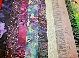 Hoffman Rainbow Batik Animals, Geometric, Plants Cotton Fabric Your Choice BTHY