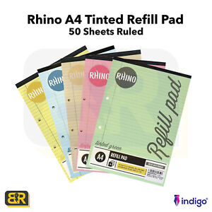 Dyslexia A4 Special Education Refill Pad Tinted Paper 100 Pages 50 Sheets Ruled
