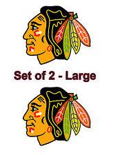 Chicago Black Hawks Cornhole Board Decals 2pc set - Large Vinyl Decals 12 x 10