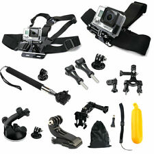 12pc Head Chest Car Mount Belt Harness Accessories for GoPro Hero 1 2 3 4 Camera