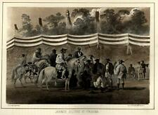 Japanese Soldiers Cavalry Yokohama Japan 1856 Perry Expedition litho view print
