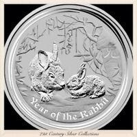 2011 Australia 1 Oz Silver Lunar Series Two Year Of The Rabbit