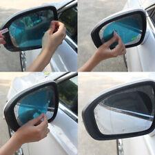 2x Blue Oval Auto Car SUV Anti Water Mist Rain Rearview Mirror Protective Film