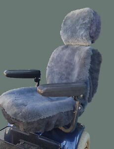 Mobility Scooter Sheepskin Seat Cover - Medium (43cm high)
