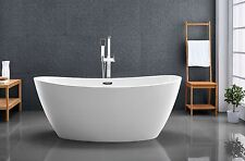Bathroom Acrylic Free Standing Bath Tub 1600 x 800 x 680 - FREESTANDING