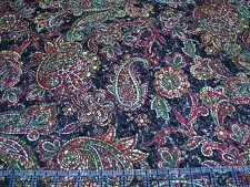 1 Yard Quilt Cotton Fabric- Benartex Byzantium Mosaic Paisley Flower Rust Brown