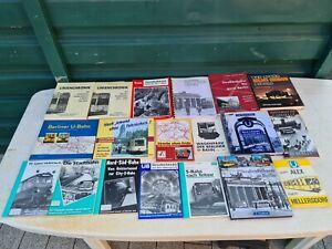 19 Stück Bücher / Hefte U-Bahn,S-Bahn,Straßenbahn Berlin BVG