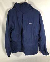 Patagonia Hooded Jacket Navy Blue Size Mens Medium
