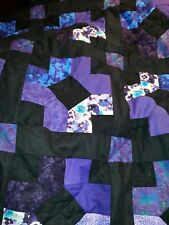 Home Made King Quilt purple and black