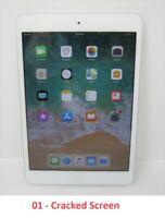 Apple iPad mini 1st Gen 16GB, Wi-Fi, 7.9 in - White & Silver - Cracked Screen