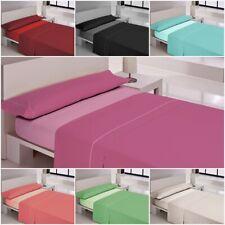 Juegos de sábanas completo lisas VEGAS (varios colores) cama 90,105,135,150,180