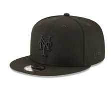 b3bfaea990ac9 New Era New York Mets Black On Black Logo 9Fifty Snapback Hat