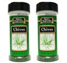 2 Pc Spice Supreme Chives - Food Cooking Seasoning 0.25 oz