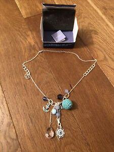 Avon Nautical Necklace Blue Bonaire Silver Plated Gr