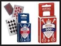 Queen's Slipper 500's Playing Cards Casino Quality 4 x Card Decks Packs Red Blue