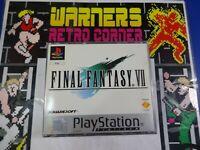 final fantasy VII PlayStation PS1 Boxed W/ manual  PAL UK game