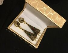 Ghazi's Imitated Indian Antique Multi Kundan Jhumka Earrings In Gift Box