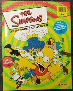 Panini The Simpsons Springfield Sticker Collection Album II(2) 2000 Empty