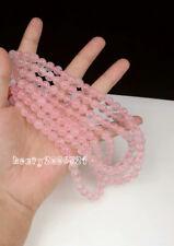 "diy 8 mm Natural Pink Rose Quartz Gemstone Ruby Round Jade Loose Beads 15"" AAA ."