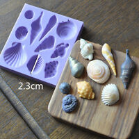 Beach Sea Shells 10-Piece Summer Silicone Cake Mould Decoration Fondant Icing 3D